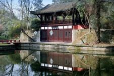 Free Pixian, China: Tea House At Wang Cong Xi Park Stock Images - 8387314