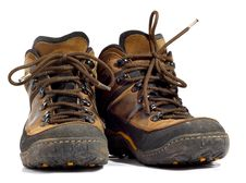 Free Pair Of Worn Boots Royalty Free Stock Photography - 8387387