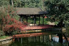 Free Pixian, China: Pavilion At Wang Cong Ci Park Stock Images - 8387434
