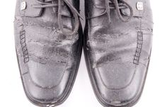 Free Black Leather Shoes Stock Photo - 8387470