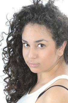 Free Beautiful Young Hispanic Woman In Closeup Stock Photos - 8387703