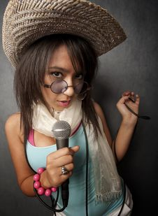 Free Beautiful Young Singer Stock Images - 8387724