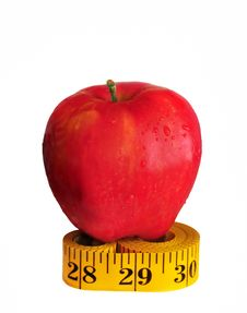Free Apple On Measuring Tape Stock Images - 8388174