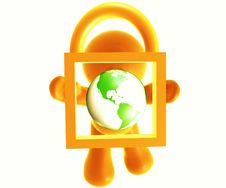 Free Secure Shopping Icon Royalty Free Stock Photo - 8389005