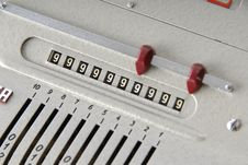 Free Detail Of An Old Calculating Machine Stock Photo - 8389020