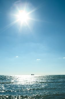 Free Blue Sky And Water Royalty Free Stock Image - 8389266