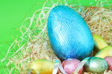 Free Easter Chocolate Eggs Royalty Free Stock Photo - 8389305