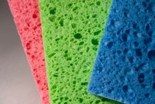 Free Multicolor Sponge Texture, Close-up Royalty Free Stock Photo - 8389335