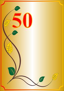 Free Fiftieth Anniversary Card Stock Images - 8389344