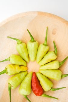 Red And Yellow Chili Pepper Royalty Free Stock Photo