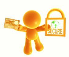 Free Secure Shopping Icon Symbol Stock Photo - 8389510