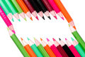 Free Colored Pencils Frame Stock Image - 8391471