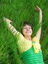 Free Girl On Grass Stock Photo - 8391730