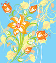 Free Bright Tiger Lily With Blue Background Stock Photo - 8398150