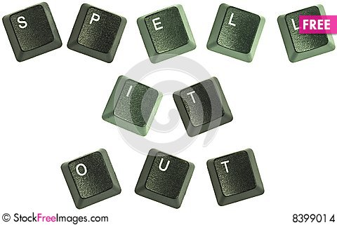 Free Spell It Out Keys Stock Images - 8399014