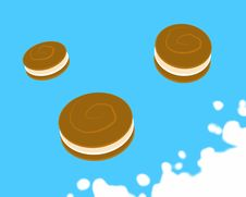 Free Jumping Cookies Royalty Free Stock Image - 8391456