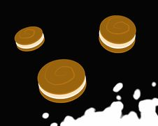 Jumping Cookies_Black Stock Images