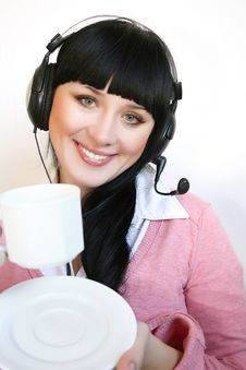 Free Support Operator Woman Royalty Free Stock Photography - 8391897