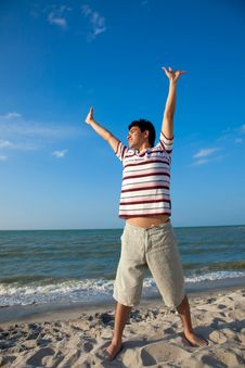 Free Young Man By The Beach Royalty Free Stock Photo - 8392285