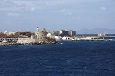 Harbor In Rhodes Island Stock Photography