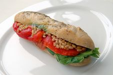 Sandwich With A Salmon Royalty Free Stock Image