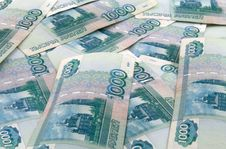 Russian One Thousand Roubles Royalty Free Stock Photos
