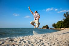 Free Young Man By The Beach Royalty Free Stock Photography - 8393367
