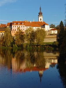 Free The Old Czech Town Pisek On The River Otava Stock Photography - 8393772