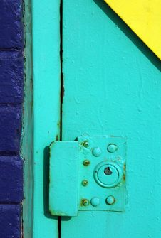 Free Colorful Exterior Door Lock Royalty Free Stock Photos - 8395748