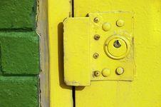 Free Yellow Urban Exterior Door Lock Stock Images - 8395764
