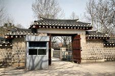 Free Asian Palace Gate Royalty Free Stock Photo - 8395855