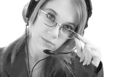 Customer Support Operator, Isolated Royalty Free Stock Images
