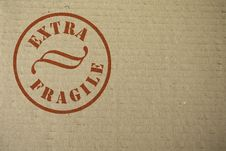 Free Cardboard With A Stamp Royalty Free Stock Images - 8397409