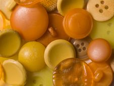 Free Old  Yellow Buttons Stock Photo - 8397560