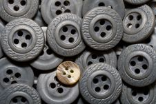 Free Old Grey Buttons Stock Photos - 8397603