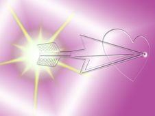 Free Arrow Piercing A Glass Heart Stock Photo - 8397840