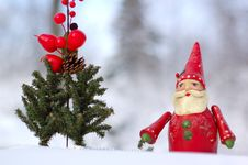 Free Santa Claus With Sleigh Royalty Free Stock Image - 8398266