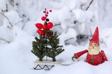 Free Santa Claus With Sleigh Stock Images - 8398324