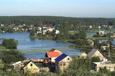 Free Village By River Stock Photos - 8399543