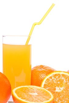 Free Orange And Juice In Glass Royalty Free Stock Photos - 8399888