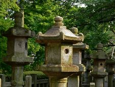 Free Stone Lanterns Stock Image - 840221