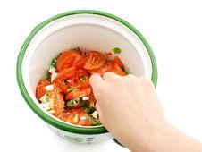 Free Preparing Salad Stock Photo - 841080