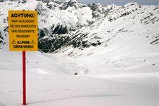 Free Ski Warning Royalty Free Stock Images - 841269