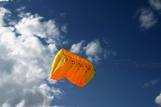 Free Orange Kite Next To The Clouds Stock Photo - 841290
