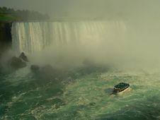 Free Touristic Boat At Niagara Falls Stock Image - 841591