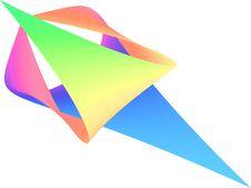 Folded Paper Craft Stock Image