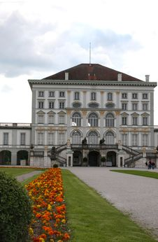 Free Front View Of Nymphenburg Royalty Free Stock Photos - 844058
