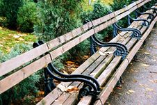 Free Bench At The Park Stock Photography - 845092