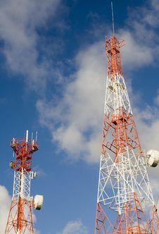 Telecommunication Towers Royalty Free Stock Photography