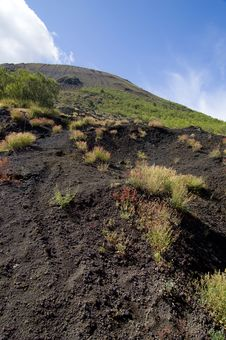 Vesuvius Volcano Crater Royalty Free Stock Photography